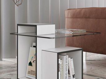 TemaHome - temahome table basse gutta design 60*60 cm en verr - Table Basse Carrée