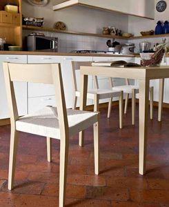 Calligaris - table repas la locanda de calligaris 140x70 en hêt - Table De Repas Rectangulaire