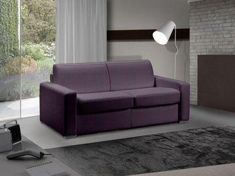 WHITE LABEL - canapé fixe master 2 places tweed purple - Canapé 3 Places