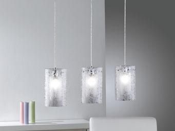 WHITE LABEL - suspension à 3 lumières avec décor orné - Suspension