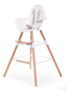 WHITE LABEL - chaise évolutive 2 en 1 pour bébé coloris blanc et - Chaise Haute Enfant