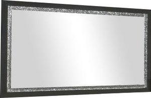 WHITE LABEL - miroir 140cm noir laqué avec strass - Miroir