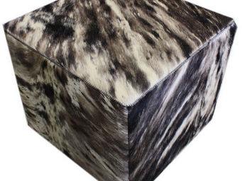 Tergus - pouf vache méché ref.m1 - Pouf