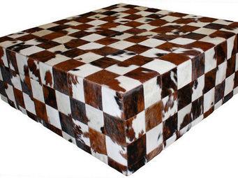 Tergus - table peau de vache naturelle normande - Table D'appoint