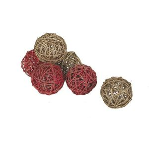 Aubry-Gaspard - lot de 6 boules d�coratives - D�coration De Sapin De No�l