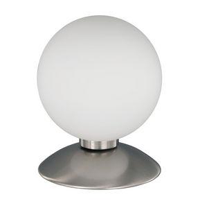 COMFORIUM - lampe à poser design boule en verre opale - Lampe À Poser