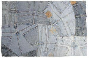 Aubry-Gaspard - tapis en jeans recyclé - Tapis Contemporain