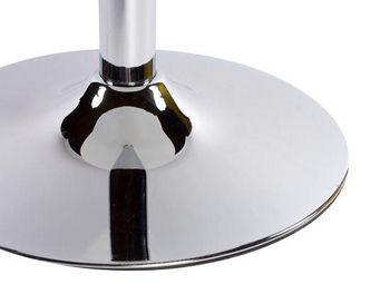 KOKOON DESIGN - table de bar en verre trempé noir et métal chromé  - Mange Debout