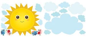 Wallies - stickers chambre b�b� rayon de soleil - Sticker D�cor Adh�sif Enfant