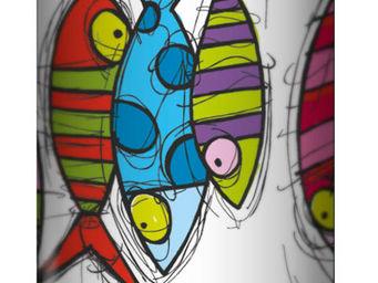 Plage Des Demoiselles - lampadaire marine b poisson corde � linge 118cm - Lampadaire
