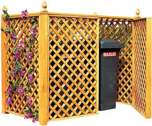 Ideanature - double cache conteneur en pin traité - Cache Poubelle