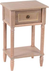 Amadeus - table de chevet tiroir bois naturel vieilli - Table De Chevet