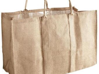 Aubry-Gaspard - sac à bûches en jute naturel - Sac À Buches