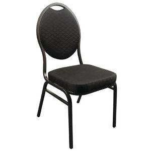 COMFORIUM - lot de 4 chaises de banquet avec dossier ovale col - Chaise