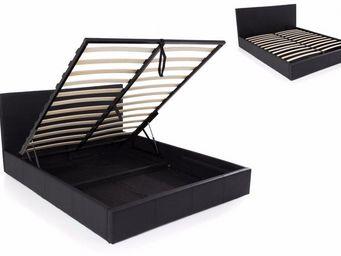 STYLEHOUSE  - lit coffre haut de gamme stona couchage 180*200 cm - Lit Coffre