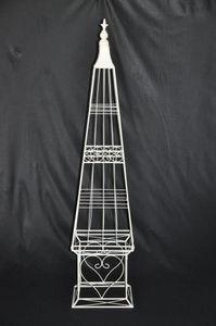 Demeure et Jardin - obelisque fer forge récamier - Obélisque