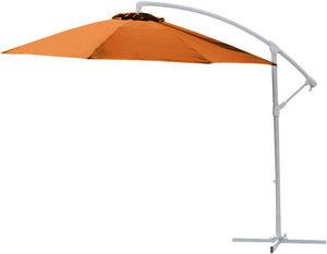 PROLOISIRS - parasol déporté rond miami 3m terracota - Parasol