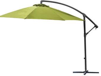 PROLOISIRS - parasol rond déporté inclinable avec pied en croix - Parasol