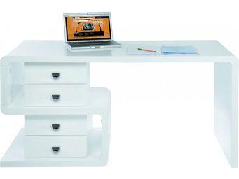 Kare Design - bureau avec rangements white club snake - Bureau
