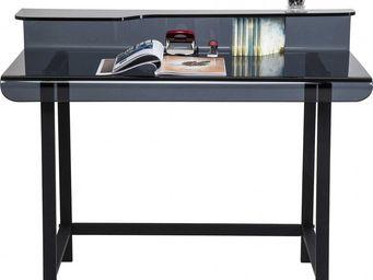 Kare Design - bureau en verre visible gris 110x65 cm - Bureau