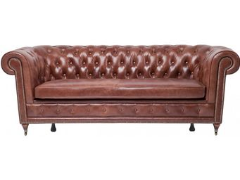 Kare Design - canapé 3 places oxford vintage deluxe - Canapé Chesterfield