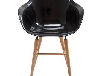 Kare Design - chaise avec accoudoirs forum noir - Chaise