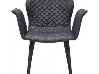 Kare Design - chaise avec accoudoirs atlantis gris foncé - Chaise