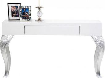 Kare Design - console design janus blanche 1 tiroirs - Console