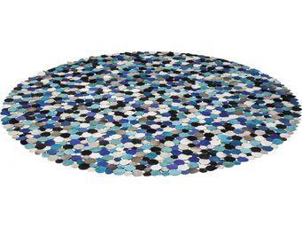 Kare Design - tapis rond circle multi bleu 250cm - Tapis Contemporain