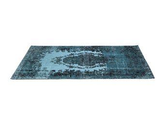 Kare Design - tapis vintage kelim pop turquoise 240x170 - Tapis Contemporain