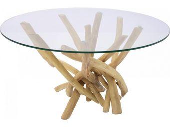 Kare Design - table basse ronde flint stone - Table Basse Ronde