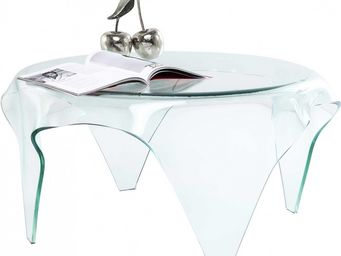 Kare Design - table basse transparente visible clear - Table Basse Ronde