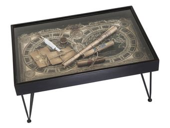Kare Design - table basse collect maps 100x70cm - Table Basse Rectangulaire