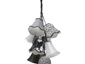 Kare Design - suspension saloon ornament noir & blanc 9 - Suspension
