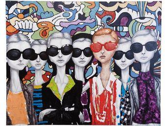 Kare Design - peinture � l huile sunglasses 120x150 - Tableau D�coratif