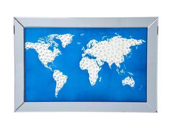 Kare Design - tableau miroir map - Tableau Décoratif