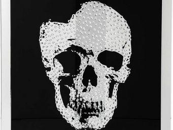 Kare Design - tableau mirror skull 100x100 cm - Tableau D�coratif