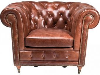 Kare Design - fauteuil club oxford vintage deluxe - Fauteuil Chesterfield