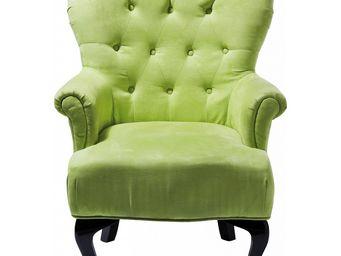 Kare Design - fauteuil cafehaus vert - Fauteuil