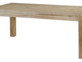 ZAGO - table repas rectangulaire en teck avec allonge ori - Table De Repas Rectangulaire