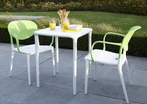 WILSA GARDEN - ensemble green garden 1 table + 2 fauteuils - Salle À Manger De Jardin