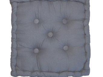 Cotton Wood - coussin de sol en coton 40 cm gris - Coussin De Sol