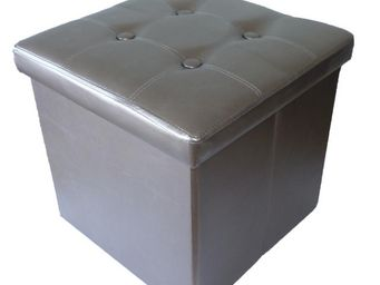 Cotton Wood - pouf pliable oxford pvc bronze - Pouf