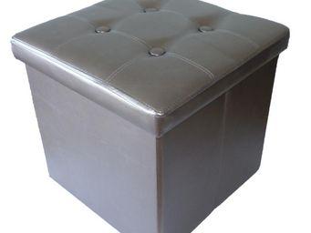 Cotton Wood - pouf pliable oxford pvc bronze - Pouf