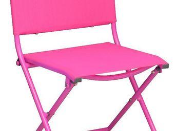 PROLOISIRS - chaise pliante textilène et acier (lot de 2) framb - Chaise De Jardin Pliante