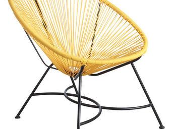 Aubry-Gaspard - fauteuil en polyrésine jaune jaune - Fauteuil
