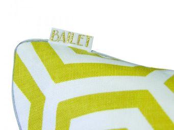 BAILET - coussin déco graphique - 50x50 cm - jaune safran & - Coussin Carré