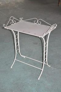 Demeure et Jardin - table de toilette blanc antique - Table D'appoint