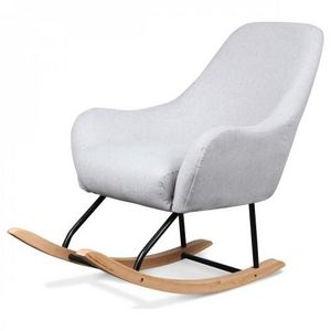 Demeure et Jardin - fauteuil rocking chair design scandinave bois et m - Fauteuil