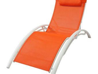 TOUSMESMEUBLES - bain de soleil orange - area - l 66 x l 179 x h 30 - Bain De Soleil